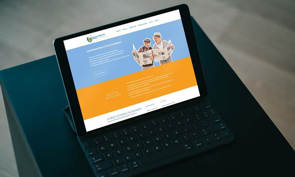 homepage Web design-tablet von Werbeagentur Bochum Gladbeck