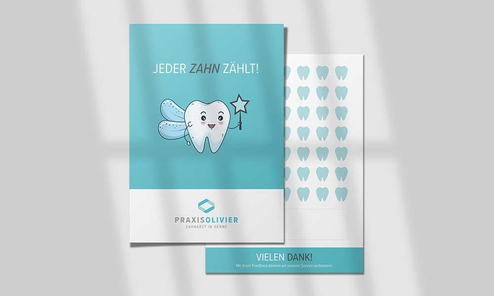 bewertungskarten-design-zahnarzt-werbeagentur-bochum-gladbeck