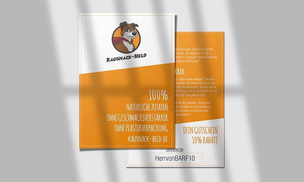 hundefutter kausnack held flyer design-werbeagentur-Bochum-gladbeck
