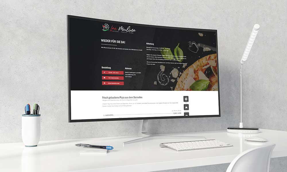 restaurant homepage-gestaltung-werbeagentur-bochum-gladbeck