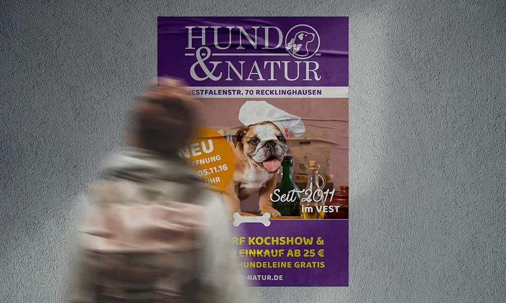 hundefutter hund und natur poster-design-werbeagentur-bochum-gladbeck