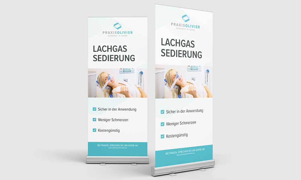 rollup-design für zahnarzt herne-werbeagentur-bochum-gladbeck